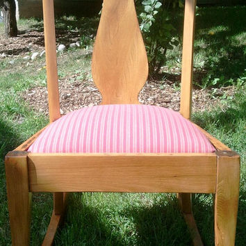 Antique Upholstered Rocking Chair, Rocking Chair, Antique Rocking Chair