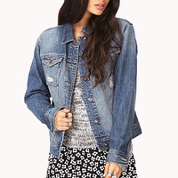 FOREVER 21 Forever Cool Denim Jacket Denim Small