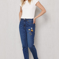 PacSun Punk Blue Patched Retro Jeans at PacSun.com