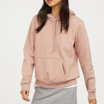 Hooded Sweatshirt - Powder pink - Ladies | H&M US