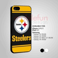 Steelers Logo af513-iPhone 4 4s 5 Samsung Galaxy S2 S3 S4