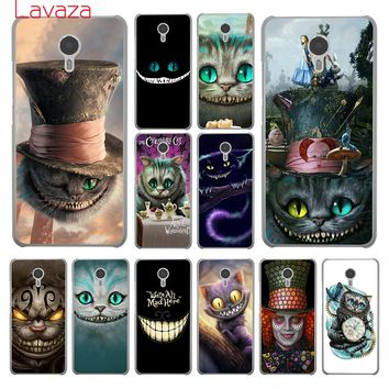 Lavaza Alice in Wonderland  Cheshire Cat Hard Phone Cover Case for Meizu M6S M3 M3S M5 Mini M6 Note M5S M5C Back Cases