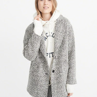 Womens Wool-Blend Overcoat | Womens Coats & Jackets | Abercrombie.com