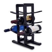 Sorbus Bamboo Wine Rack, Holds 12 Bottles of Your Favorite Wine, Sleek and Chic Looking Wine Rack - Walmart.com
