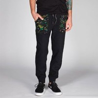 Trukfit Splatter Mens Quilted Sweatpants Black  In Sizes