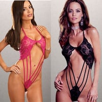 Hot Deal Cute On Sale Sexy One-piece Lace Bikini Exotic Lingerie [6595475971]
