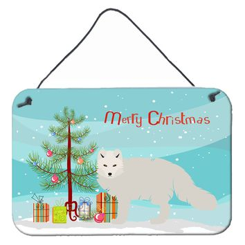 White Arctic Fox Christmas Wall or Door Hanging Prints BB9244DS812