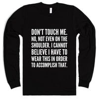 DON'T TOUCH ME LONG SLEEVE T-SHIRT IDE04220439