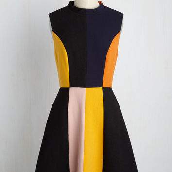 Mod Squad Goals A-Line Dress | Mod Retro Vintage Dresses | ModCloth.com