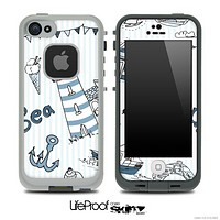 Nautica Collage V4 Skin for the iPhone 5 or 4/4s LifeProof Case