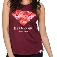 Diamond Supply Co. Cut Out Rose Muscle Tee