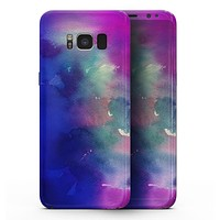 Blue 97 Absorbed Watercolor Texture - Samsung Galaxy S8 Full-Body Skin Kit