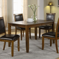 "Dark Walnut Ash Veneer 36""X 54""X 72"" Dining Table"