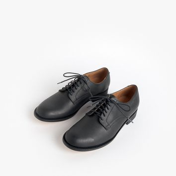 1940's Naval Officer Derby Shoe in Black