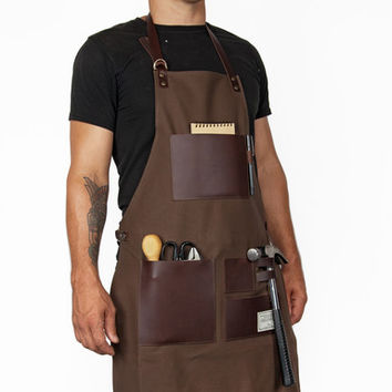 TRVR Waxed Canvas and Leather Gentleman's Apron - Hand-Eye Supply