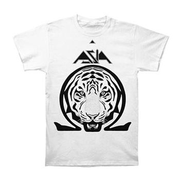 Asia Men's  Omega Slim Fit T-shirt White Rockabilia