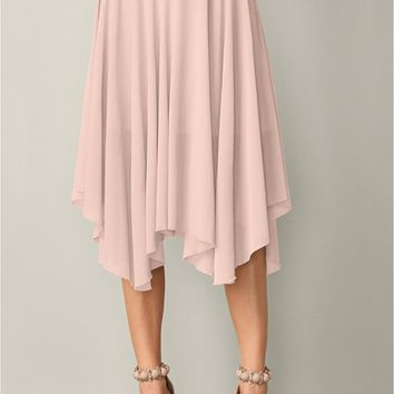 Light Pink Mesh Midi Skirt from VENUS