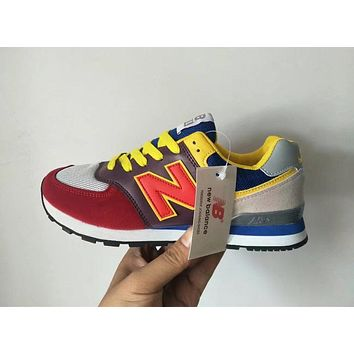 New Balance 574 Unisex Sport Casual N Words Retro Multicolor Sneakers Couple Running Shoes-1