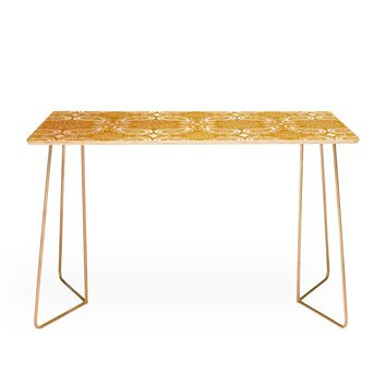 Heather Dutton Plush Paisley Goldenrod Desk