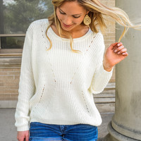Back To School Open Knit Sweater Ivory