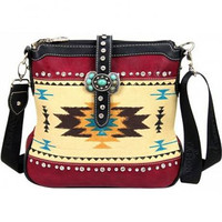 Montana West Aztec Concho Messenger Bag MW48-8295