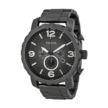 Fossil Mens JR1437 Nate Chronograph Smoke Watch