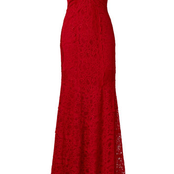 Nicole Miller Red Tempted By You Gown