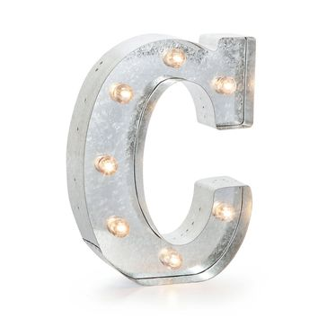 """Darice Silver Metal Marquee Letter 9.875""""-C"""