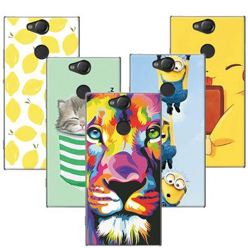 """Fruit Painting Cat Lion Minions Phone Cases Coque For Sony Xperia XA2 Case Cover Capa For Sony Xperia XA 2 Fundas 5.2"""" +Gift Pen"""