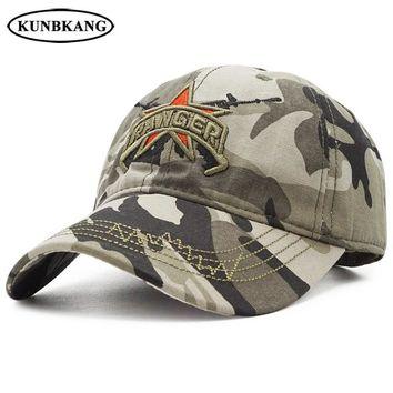 Trendy Winter Jacket New Camo Baseball Cap Men US Army RANGER Tactical Snapback Hat Cotton Dad Bone Outdoor Camouflage Sports Hat Casquette Cap AT_92_12