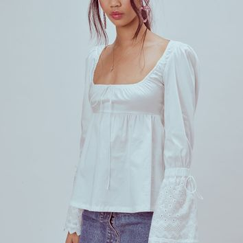 Juniper Cotton Babydoll Blouse – For Love & Lemons