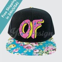 OF DONUT GOLF WOLF ODD FUTURE FLORAL SNAPBACK HAT