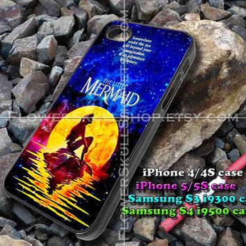 the little mermaid galaxy iphone case, iphone 4/4S, iphone 5/5S, iphone 5c, samsung s3 i9300, samsung s4 i9500, design accesories