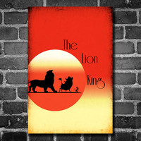 Disney Art The Lion King Poster movie poster disney poster 11x17
