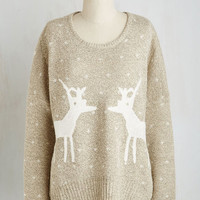 Critters Mid-length Long Sleeve Know All the Antlers Sweater