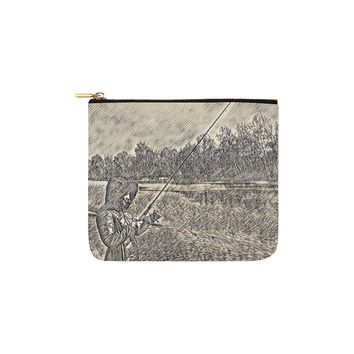 Levi Thang Fishing Design 19 Carry-All Pouch 6''x5''