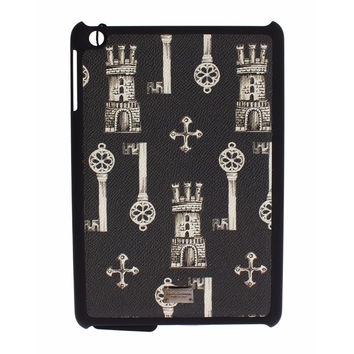 Dolce & Gabbana Black Key Knight Print Leather Tablet Ipad Case Cover