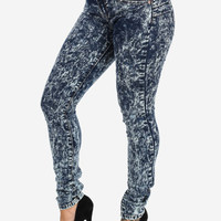 Dark Acid Wash Butt Lifting Skinny Jeans