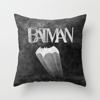 gothams knight Throw Pillow by Darthdaloon