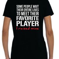 Some People Wait Womens football shirt, favorite football player, football mom aunt, college high school football lover, tshirt