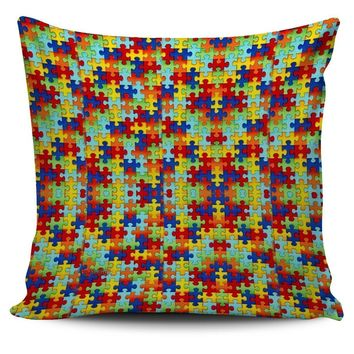 Autism Symbol Pillow Covers- Free Shipping