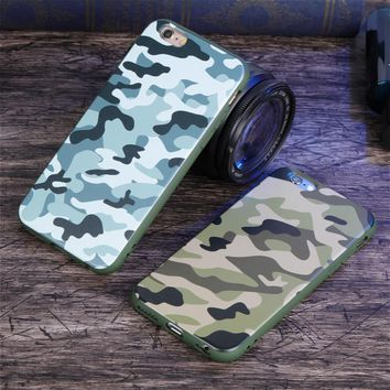 Luxury Army Camo Camouflage Rear Soft Slim Cover Case for IPhone 5s 5 6 7 Phone Case Silicone Shell Capa Coque for IPhone 6s 7 8