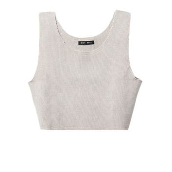 Ribbed-knit cashmere tank top