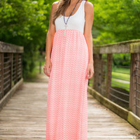 Grant My Wishes Maxi Dress, Neon Pink