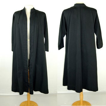 1950s dress coat, Vogue Couturier, swing coat, silk faille, dolman sleeves, Size S/M