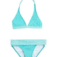 Roxy - Girls 7-14 Doll Face Dot 70s Halter Set With Cups Swimsuit