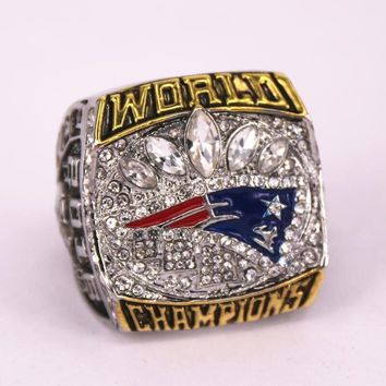 New England Patriots super bowl 51 world championship rings replica BRADY engraving inside 7 to 15 size