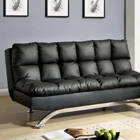 Aristo Futon Sofa Contemporary Style, Black