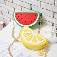 Fruit Slice Watermelon Lemon Food Crossbody Chain Handbag Purse
