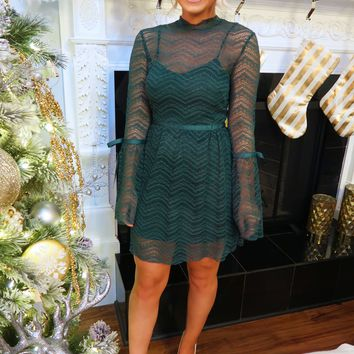 Make A Wish Dress: Mistletoe Green